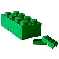Desiatový box LEGO Box na desiatu 100 x 200 x 75 mm - tmavo zelený