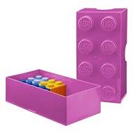 LEGO Box na desiatu 100 x 200 x 75 mm - ružový - Desiatový box