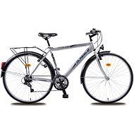 Olpran Pánsky trekový bicykel Mercury sivo/čierny - Crossový bicykel