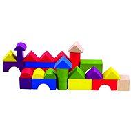Drevené kocky Detoa farebná stavebnica - Dřevěné kostky