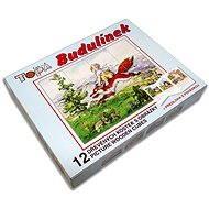 Kocky kubus – Budulínek 12ks - Obrázkové kocky