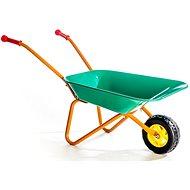 Plechové koliesko Yupee zelené - Detský záhradný fúrik