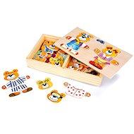 Kreatívna súprava Drevené hračky - Obliekanie medvedíkov - Kreativní sada