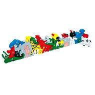 Drevené hračky – Zvieratá s písmenami a číslicami - Herná súprava