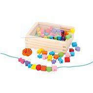 Drevené navliekacie koráliky v krabičke - Kreatívna súprava