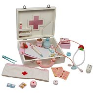 Detský drevený doktorský kufrík - Isabel - Herná sada