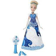 Disney Princess – Bábika Popoluška s vyfarbovacou sukňou - Bábika