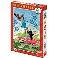 Dino Krtko a autíčko - Puzzle