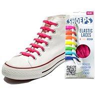 Shoeps - Fuchsia ružové silikónové šnúrky - Súprava šnúrok