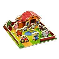 Dřevěná farma – Moje první zvířátka 28 dielikov - Didaktická hračka