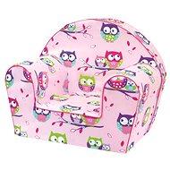 Bino Kresielko ružové – Sovičky - Detský nábytok