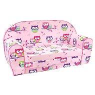 Bino Pohovka ružová – Sovičky - Detský nábytok