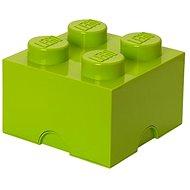 LEGO Úložný box 4 250 x 250 x 180 mm - limetkovo zelený - Úložný box
