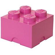 LEGO Úložný box 4 250 x 250 x 180 mm - ružový - Úložný box