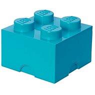 LEGO Úložný box 4 250 × 250 × 180 mm – azúrový - Úložný box