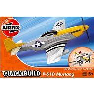 AirFix Quick Build J6016 lietadlo – P-51D Mustang - Plastový model
