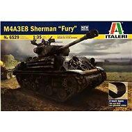 """Italeri Model Kit 6529 tank – M4A3E8 Sherman """"Fury"""" - Plastový model"""