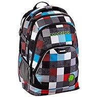 CoocaZoo EvverClevver2 Checkmate Blue Red - Školský batoh