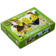 Topa drevené kocky kubus - Domáce zvieratká - Obrázkové kocky