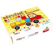 Topa drevené kocky kubus – Kubíkove kocečky 6 ks - Obrázkové kocky