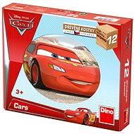 Dino drevené kocky kubus - Cars - Obrázkové kocky