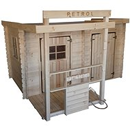 Detský drevený domček CUBS – Petrol - Detské ihrisko