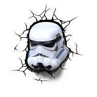 3D Svetlo Star Wars Storm Trooperova maska - Osvetlenie do detskej izby
