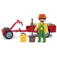 IGRÁČIK – Záhradník s traktorom a doplnkami - Herný set
