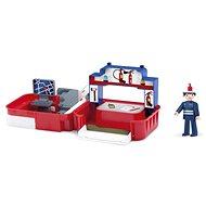 IGRÁČIK Handy – Požiarna stanica s hasičom - Herný set