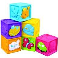 Didaktická hračka Detské pískacie kocky 6 ks