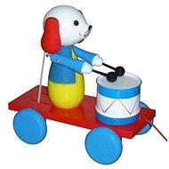 Ťahací pes s bubnom - Ťahacia hračka