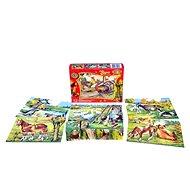 Topa drevené kocky kubus - Zvieratká na statku 12 ks - Obrázkové kocky