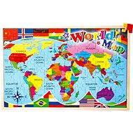 Vkladacie puzzle – Mapa sveta - Didaktická hračka