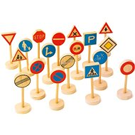 Drevené detské dopravné značky veľké - Herný set