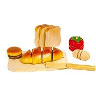 Dřevěné potraviny - Krájení - Herná súprava