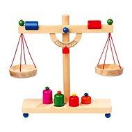 Dřevěné potraviny - Páková váha - Herná súprava