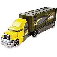 Hot Wheels Havarujúci ťahač žltozelený - Herný set