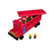 Drevený školský autobus - Drevený model