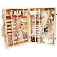 Kufrík drevené náradie Deluxe - Herný set
