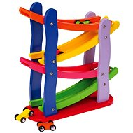 Drevená závodná dráha 4 autíčka - Didaktická hračka