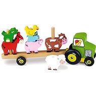 Traktor so zvieratkami – Nasadzovanie - Herná súprava