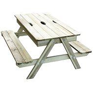 Stolík s 2 lavicami PIC-NIC s úložným priestorom - Detský nábytok