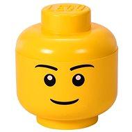Úložný box LEGO úložná hlava (veľkosť S) – chlapec