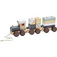 Vlak z kostek Neo dřevěný - Herná sada