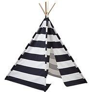 Stan teepee, čierno-biely - Detský stan