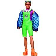 Ken so zelenými vlasmi módny deluxe - Bábika