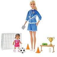 Barbie Futbalová trénerka s bábikou – herná sada Blondínka - Bábika