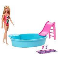 Barbie bábika a bazén - Bábika