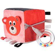 Canpol babies Plyšová senzorická kocka červená
