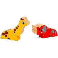 Brio 30284 Magnetické zvieratká žirafa a slon - Hračka pre najmenších